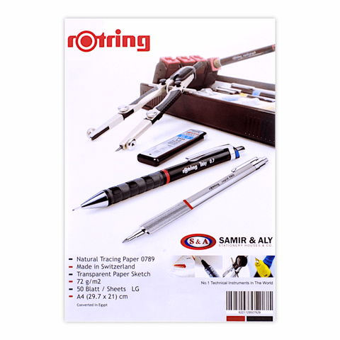 Rotring Tracing Paper Sheet 72 gsm A4 Pack of 10