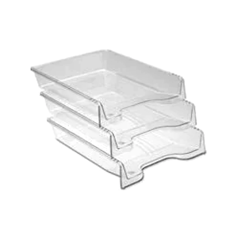 Ark Stackable Document Tray Translucent Set of 3