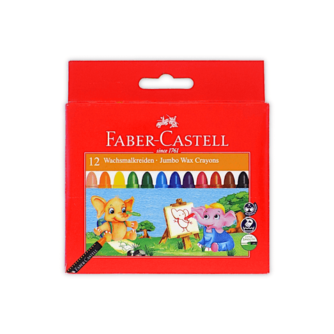Faber-Castell Jumbo Wax Crayons 90 mm Pack of 12