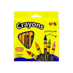M&G Triangular Wax Crayons 90 mm Pack of 12