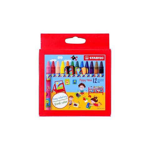 Stabilo Wax Crayons Box of 12