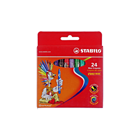 Stabilo Wax Crayons 90 mm Box of 24