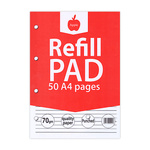 Apple Filler Paper Multi-Punched Lined 50 Sheets A4