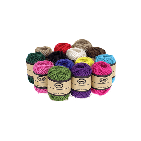 Generic Colorful Craft Jute Twine Rope Roll 10 m
