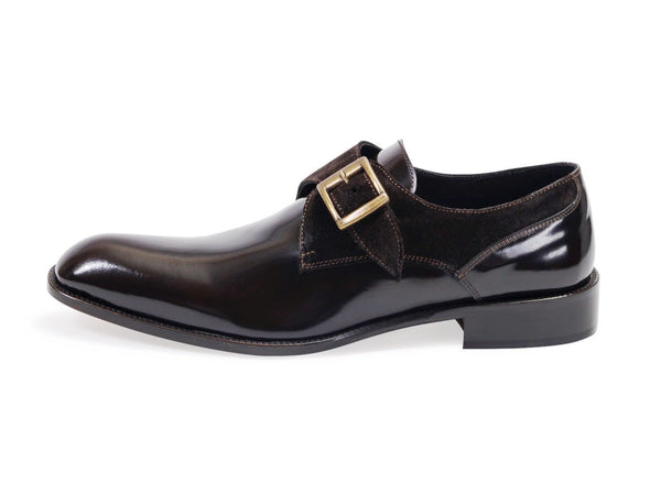 Composite Single Buckle Shoes - Brown