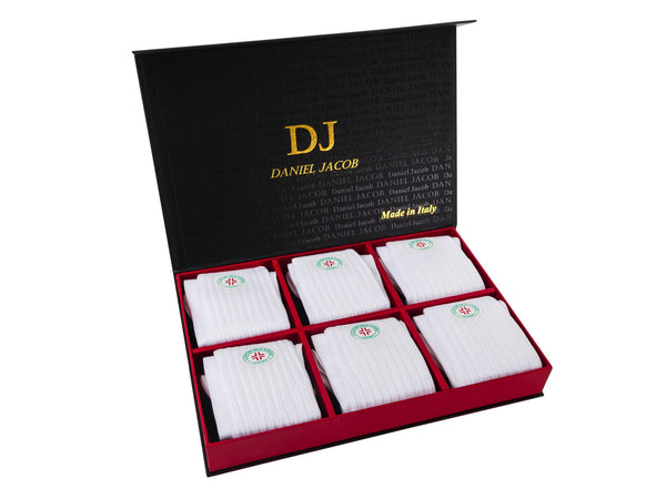 6 100% Cotton Diabetic Socks In Luxury Gift Box White