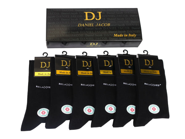 6 Diabetic Socks In  Gift Box Black