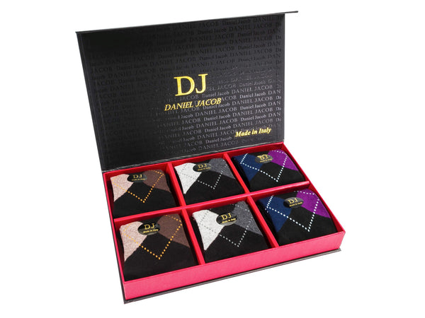 6 Argile design Socks in Luxury Gift Box