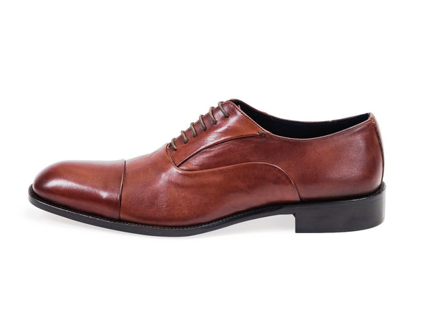 All leather.Smooth Calf Oxford Shoes -Brown