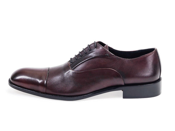 All leather.Smooth Calf Oxford Shoes -Ox Blood Colour
