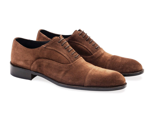 649d8c5862e Suede Oxford Brown Shoes. Leather Sole.