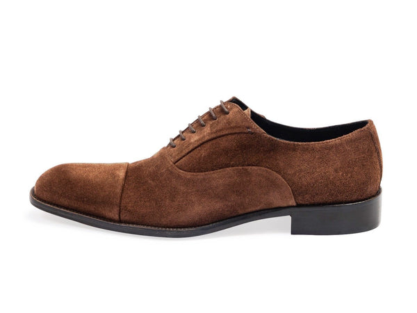 Suede Oxford Brown Shoes. Leather Sole.