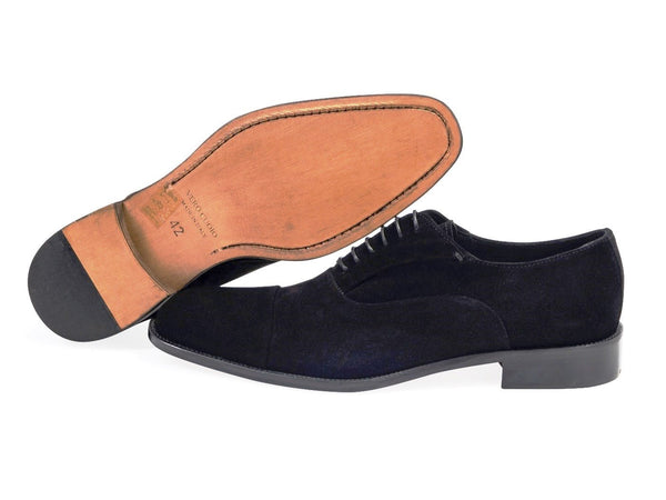 36daea5779ae99 Suede Oxford Black Shoes. Leather Sole.