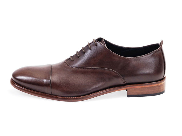 All leather.Smooth Calf Oxford Shoes- Espresso Colour
