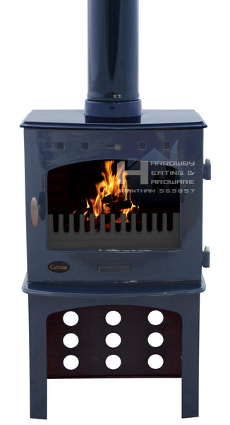 Carron 7.3kw Cast Iron Stove With Matching Log Store