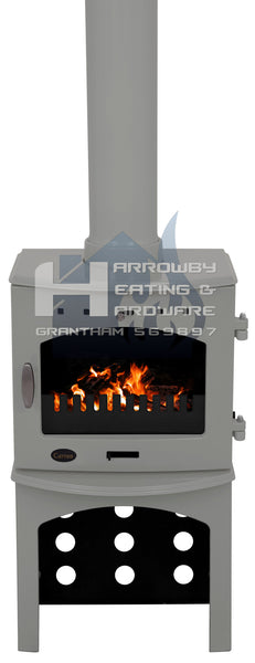 Carron 4.7kw Cast Iron Stove Range With Matching Log Stores
