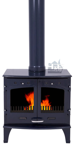 Carron 11KW Blue Enamel Cast Iron Stove Promotion