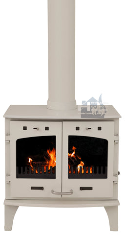 Carron 11KW Cream Enamel Cast Iron Stove Promotion