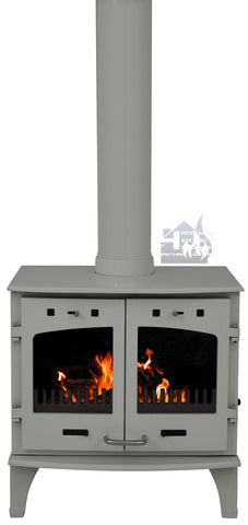 Carron 11KW Ash Grey Enamel Cast Iron Stove Promotion