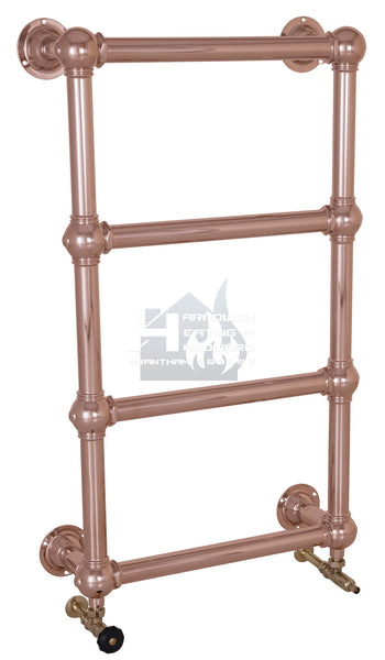 Colossus Steel Wall Mounted Towel Rail - 1000mm x 600mm (Copper Finish)