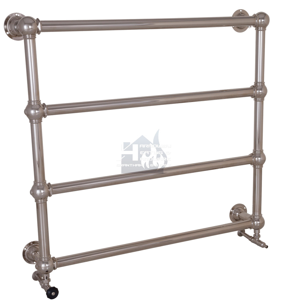 Colossus Steel Wall Mounted Towel Rail - 1000mm x 1100mm (Nickel Finish) TOW030