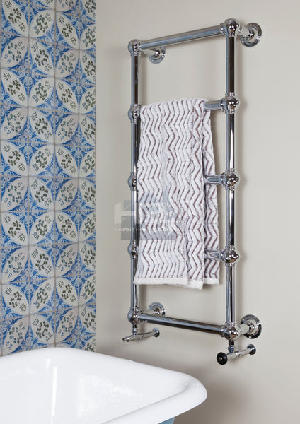 Colossus Steel Wall Mounted Towel Rail - 1300mm x 600mm (Chrome Finish)