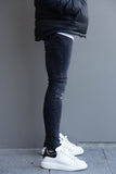 Skinny Black & Grey Ripped Denim