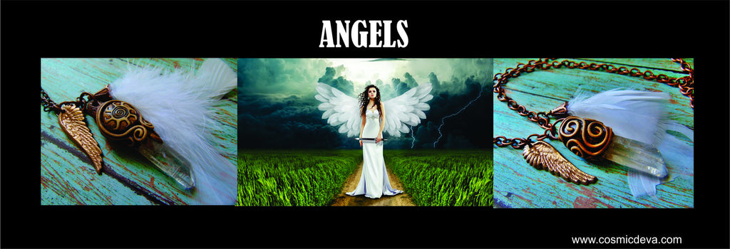 "Angels: {Latin: angelus} ~ {Greek: angelos; ""a super natural being""} ~ {Hebrew: malak; ""a messenger""} A being empowered as a messenger of the divine, for divine justice, guidance and/or protection."