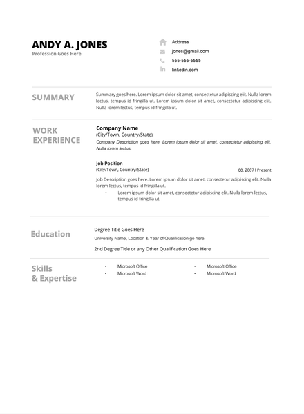 Resume 004 Resumes Experts