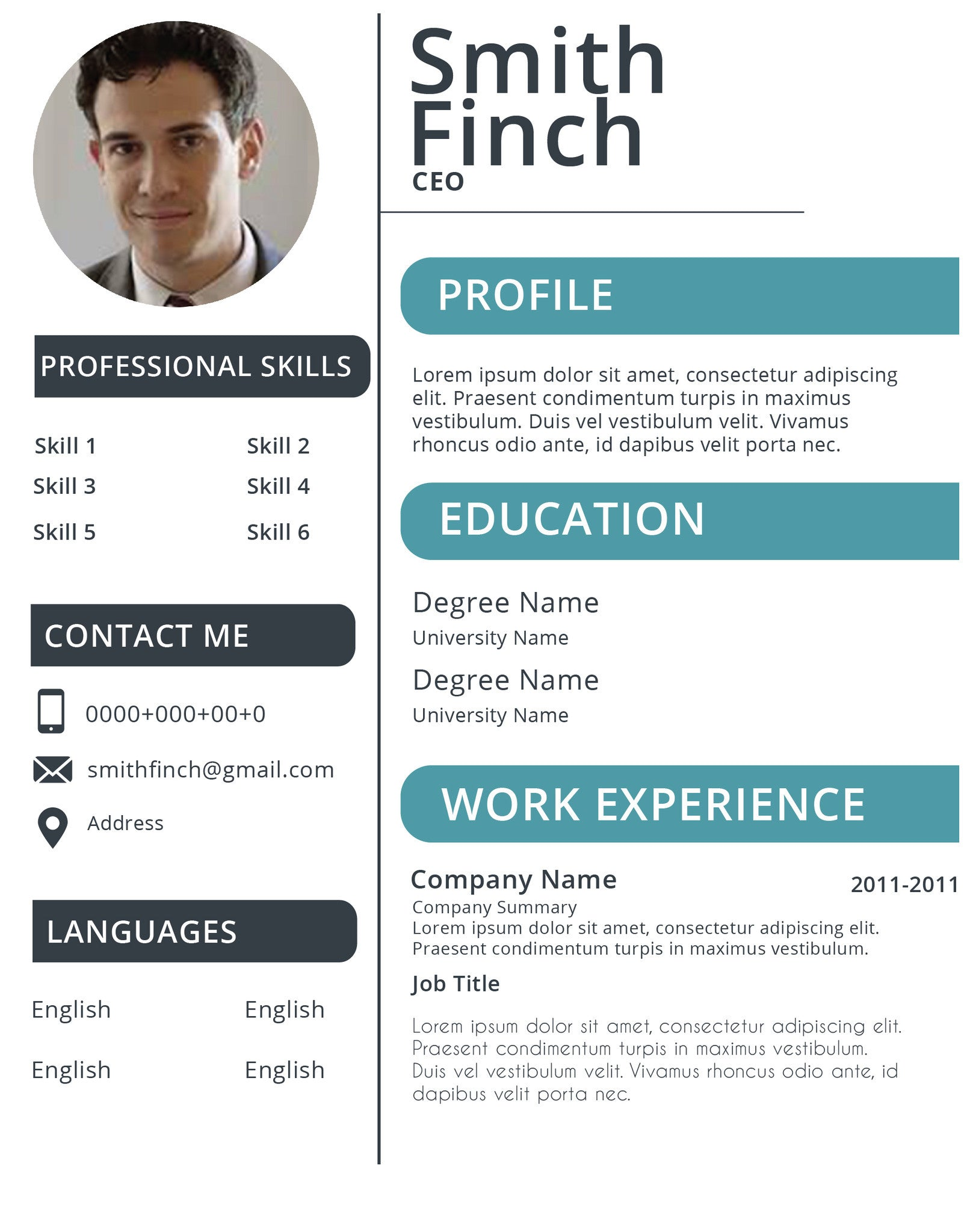 Resume 018 Resumes Experts