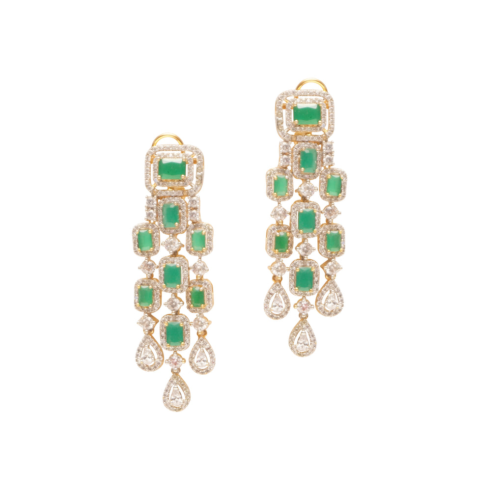 buy long earrings online. Classy evening danglers