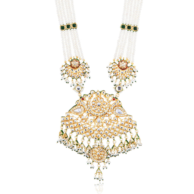 indian wedding jewelry. Designer Kundan necklace
