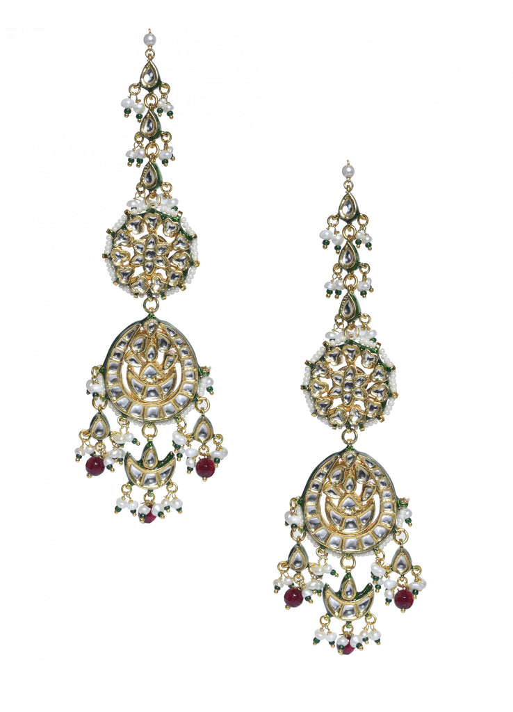 imitation earrings designs. Designer Kundan hangings