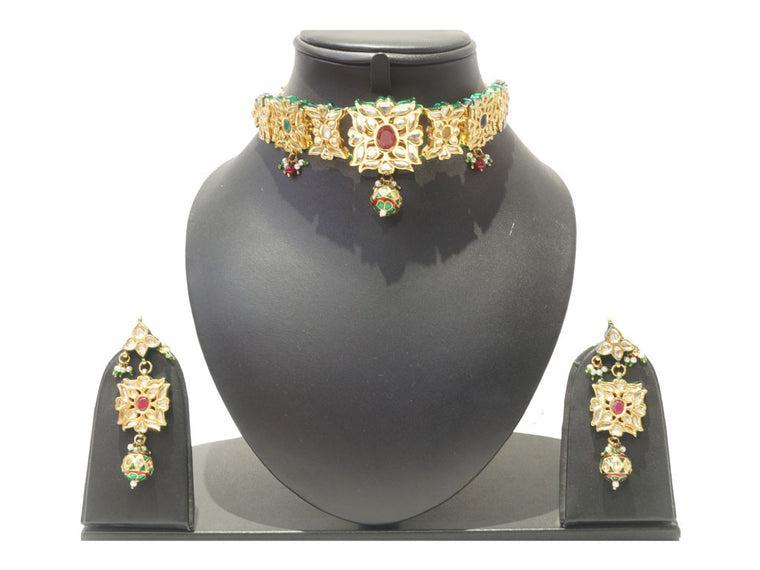 latest necklace design, designer kundan, choker necklace