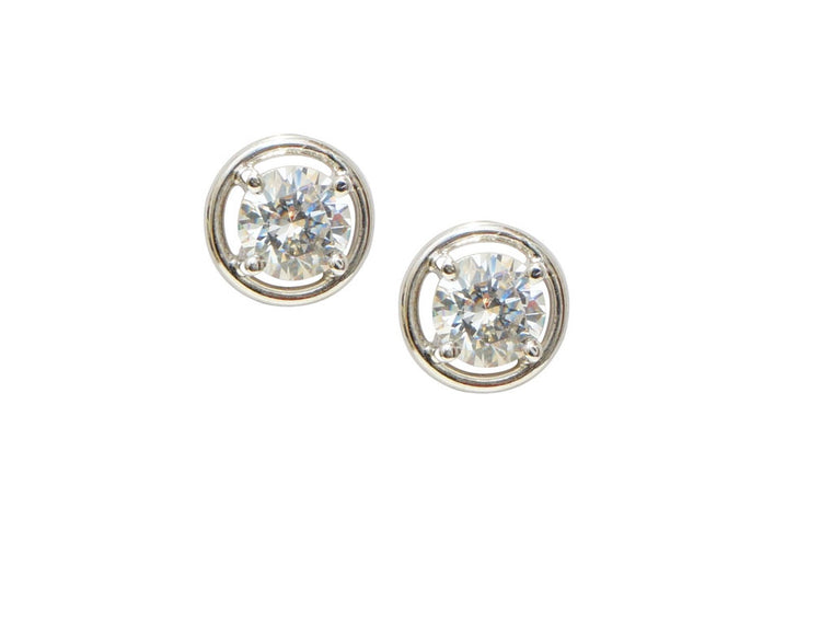 trendy fashion jewellery earrings, Round Cz stud