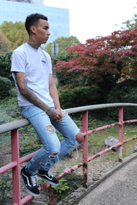 "White ""Oublie"" Staple Tee"
