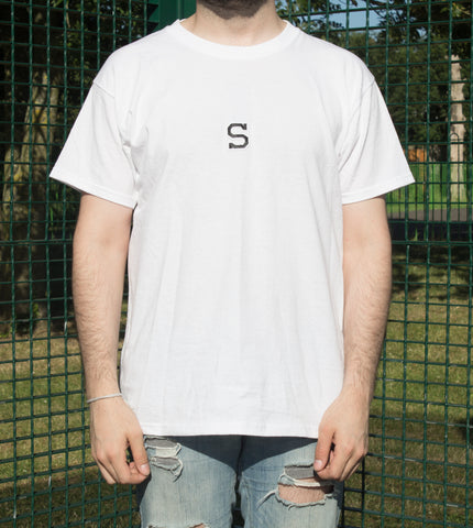 """COLLEGE"" Tee in Pearl White"