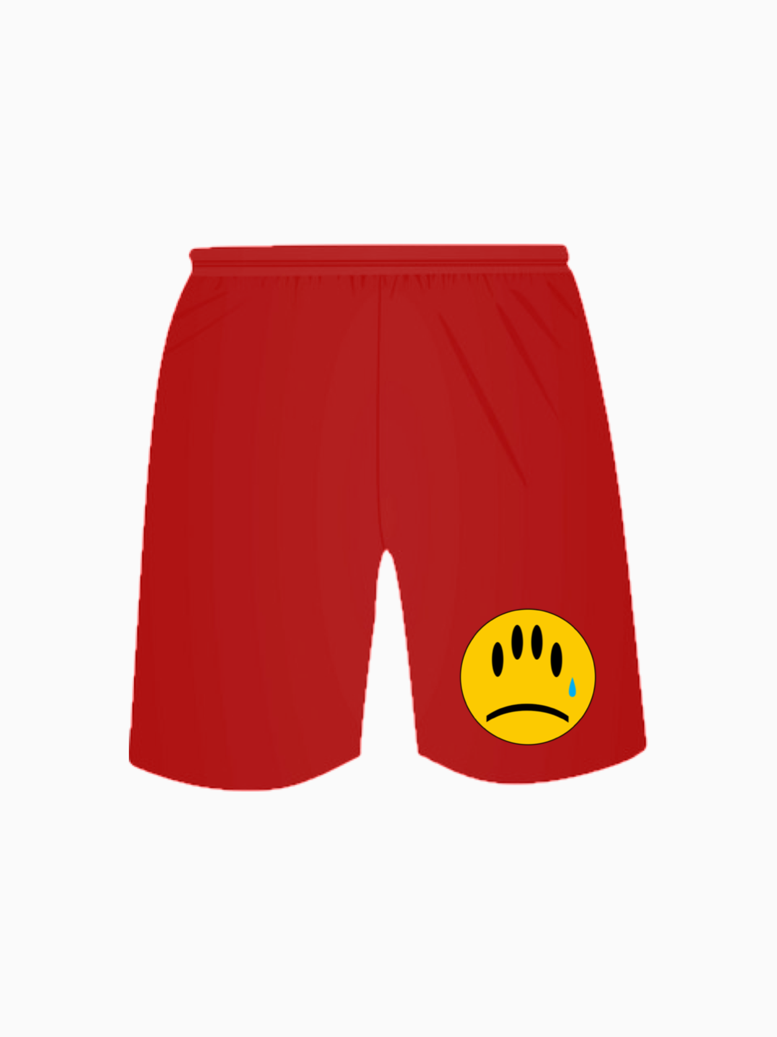 """FAKE SMILES"" Jogger Shorts - Red"
