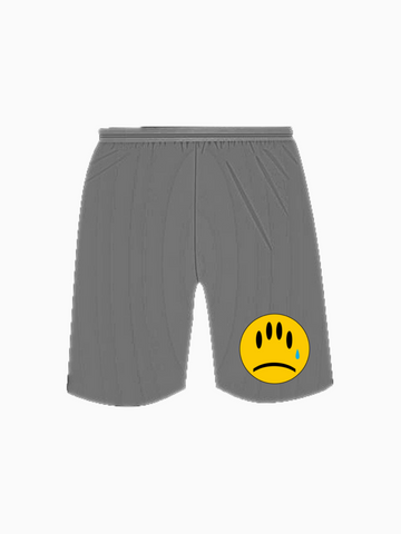 """FAKE SMILES"" Jogger Shorts - Grey"