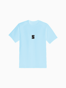 """COLLEGE"" Tee in Sky Blue"