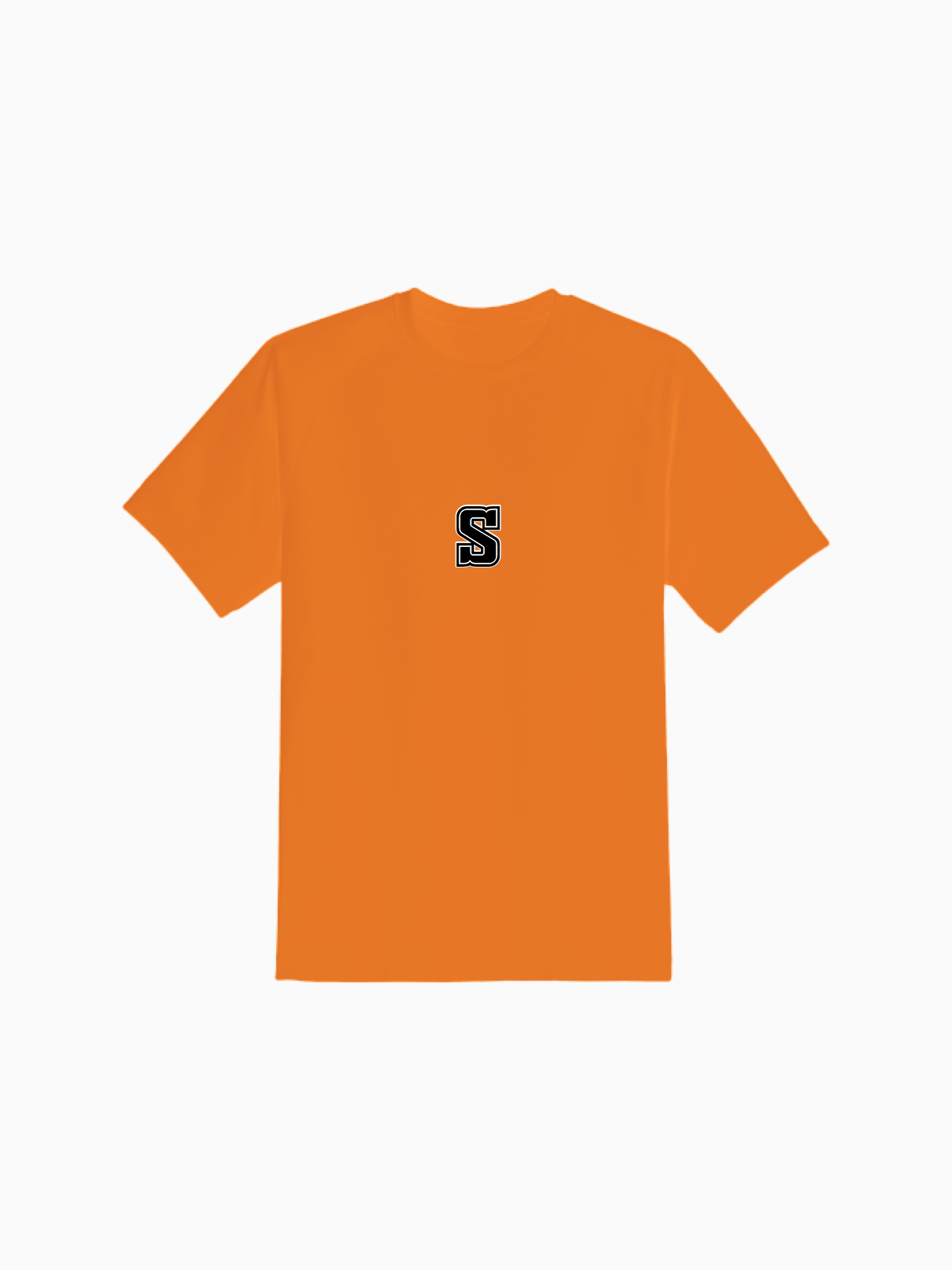 """COLLEGE"" Tee in Pumpkin Orange"