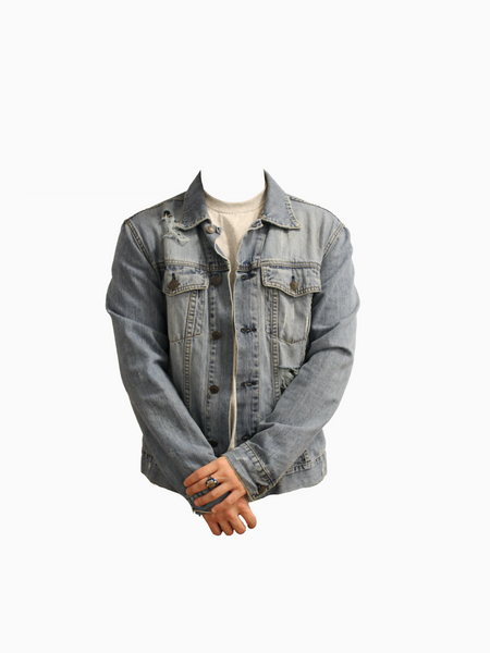 ANNIHILATE Distressed Denim Jacket