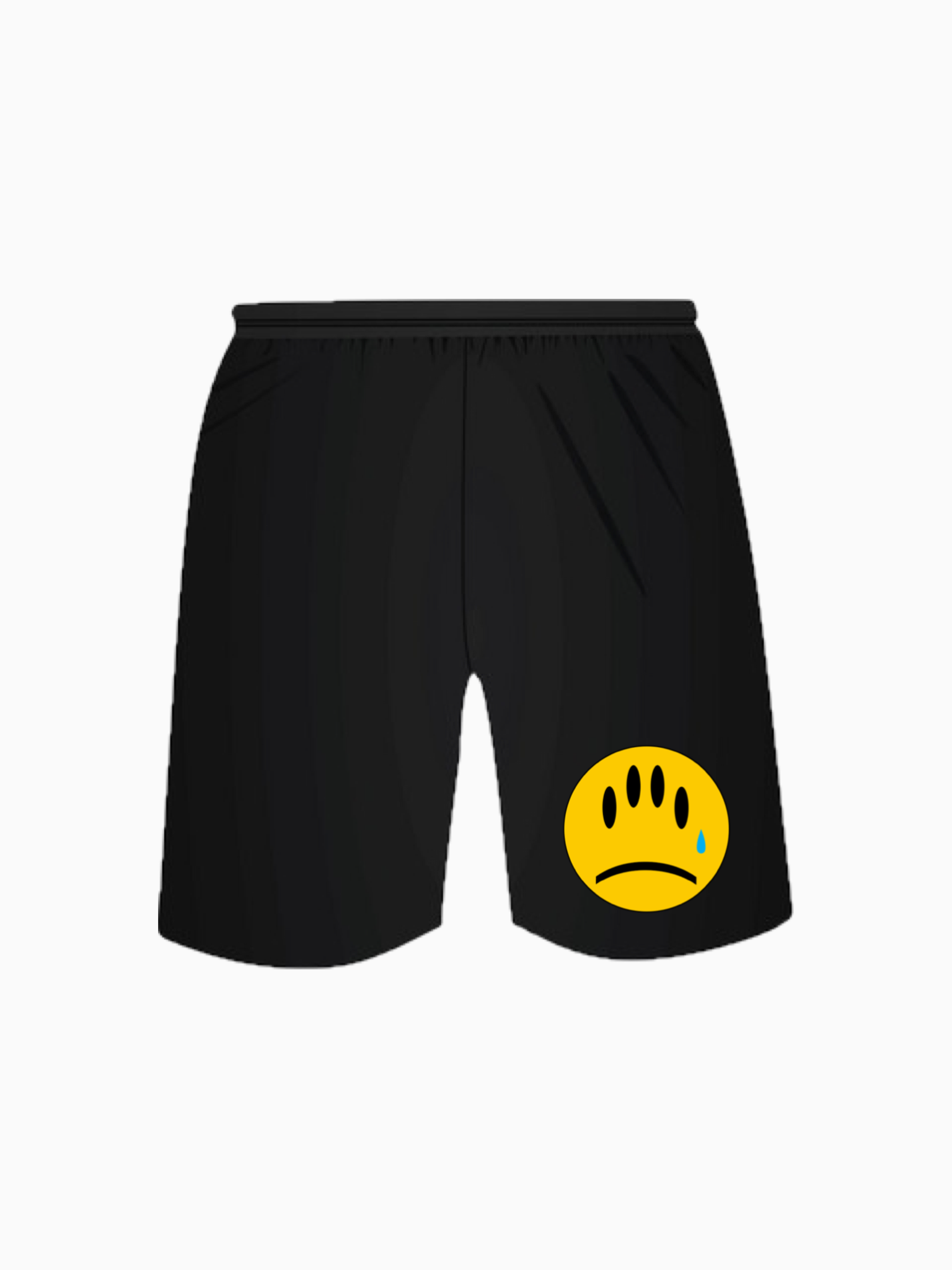 """FAKE SMILES"" Jogger Shorts - Black"