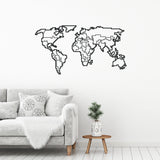 Metal Wall Art No: 41 World Map
