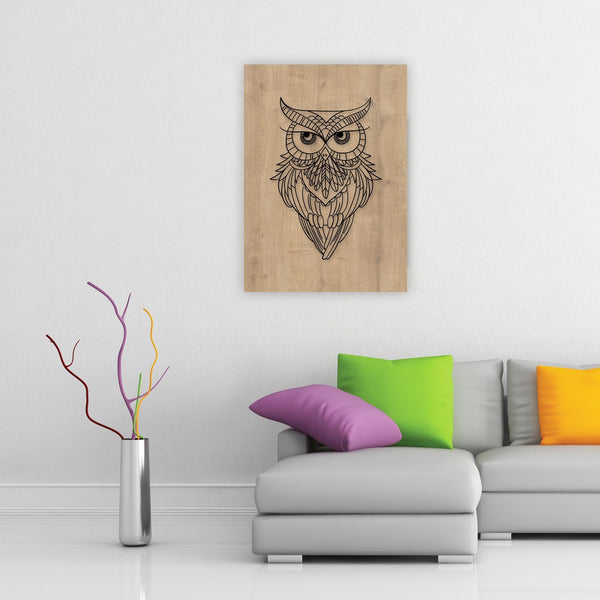 Owl Call Wooden Frame