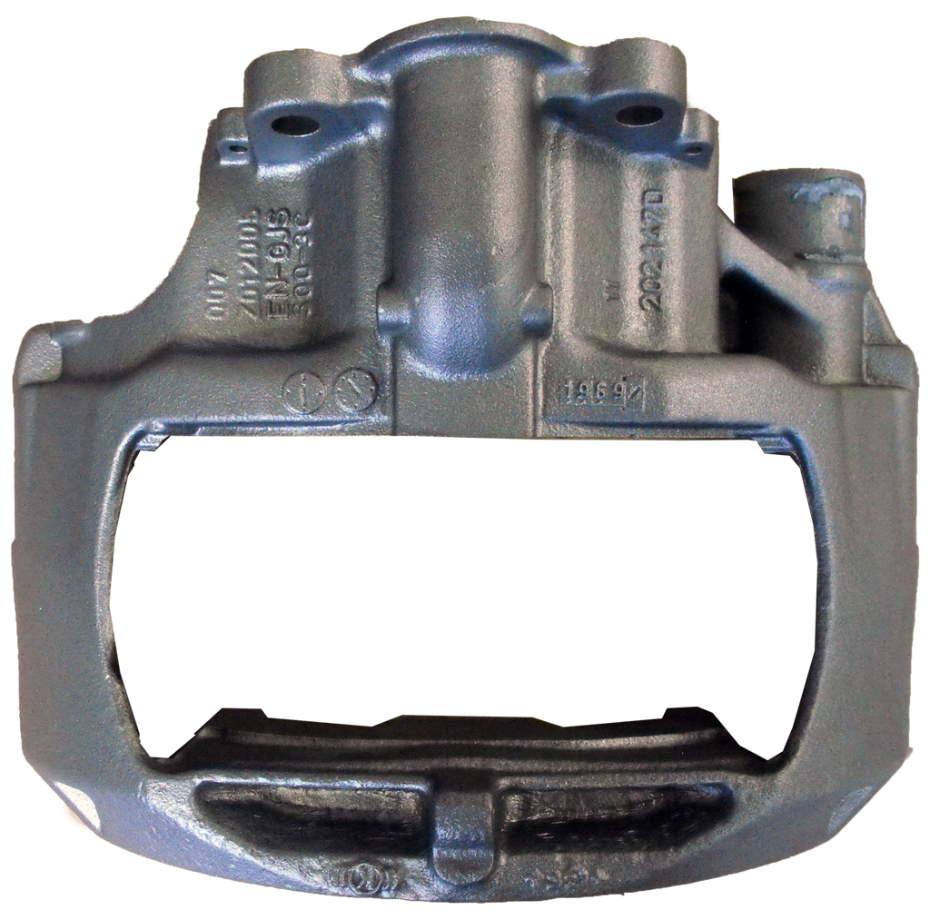 Mercedes Actros brake caliper surface treatment
