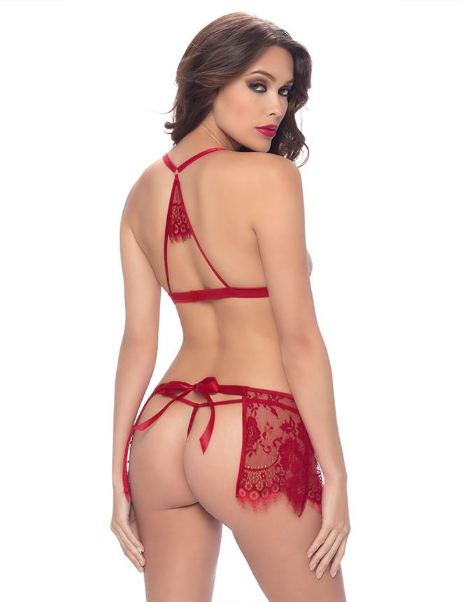 Lace Teddy Tie-back lingerie