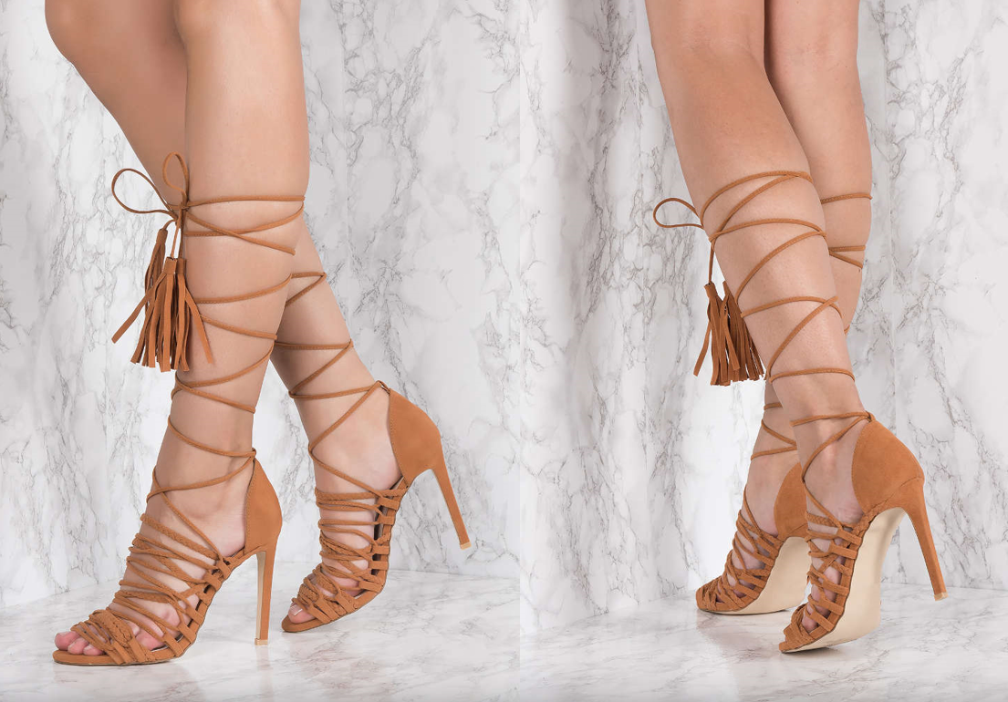 Strap Gladiator Heel Shoes