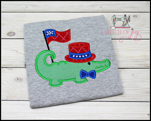 Patriotic Alligator