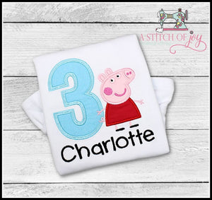 Peppa Pig (Inspired) Birthday Shirt